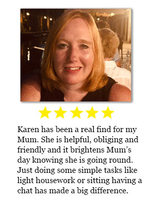 Home helper review for Karen