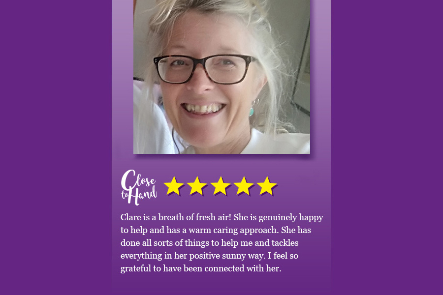 meet Clare, a home helper in Tunbridge Wells, Kent